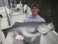 Lake Allatoona Fishing Guides - Another Big Striper On the Line!