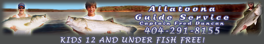 Lake Allatoona Fishing Guides Service